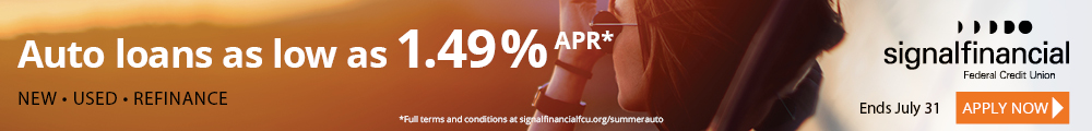 Banner ad for an autgo loan promotion offering discounted rates starting at 1.49% Annual Percentage Rate (APR)