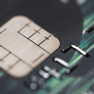 Credit card security chip