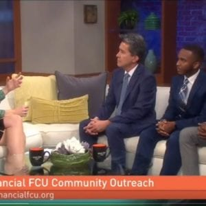 Francois and interns on a local TV show, Great Day Washington