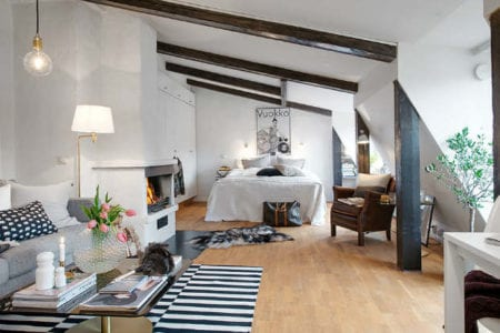 cute studio apartment deliciously decorated by someone with modern taste
