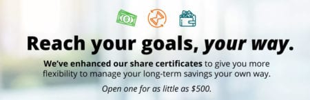 Reach your goals, your way with our enhanced share certificates
