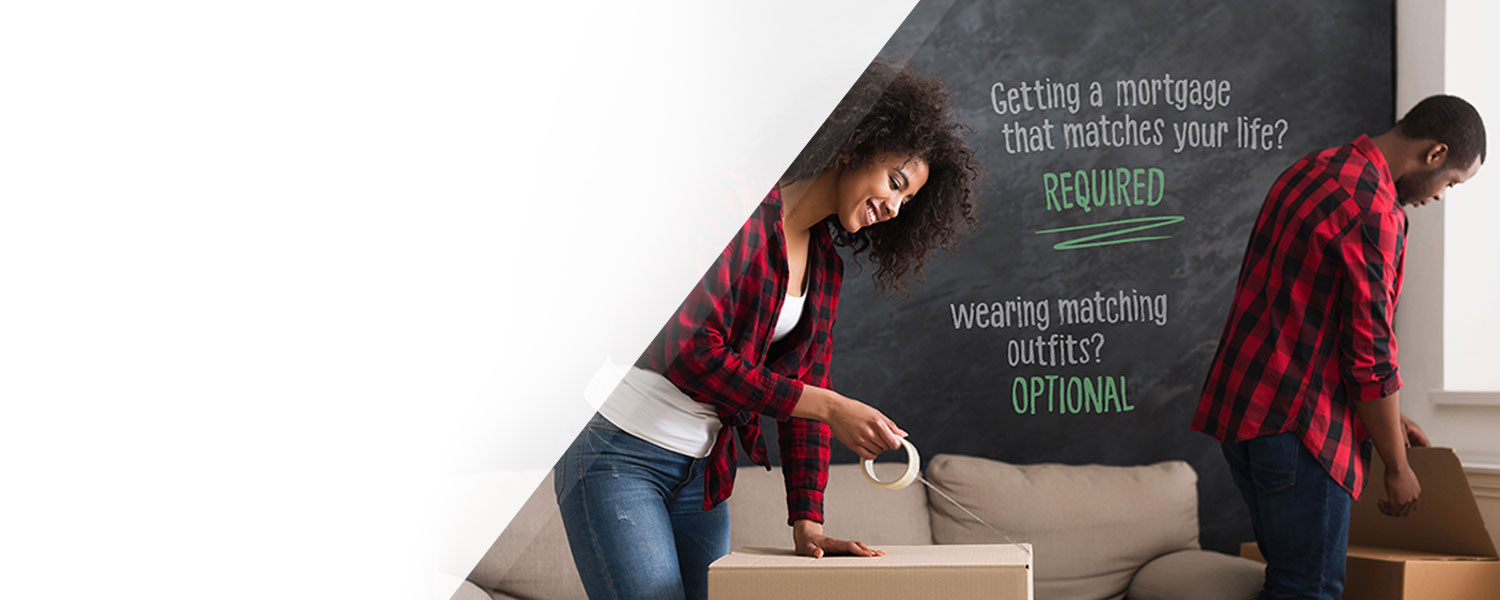 man and woman moving boxes